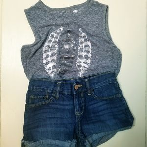 Old Navy Girl's shorts and tank top outfit